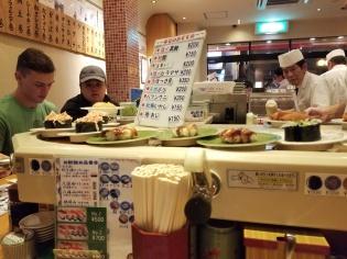 Conveyor-belt sushi